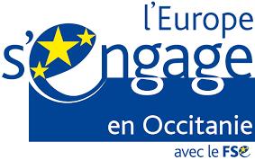 Logotype L'Europe s'engage en Occitanie